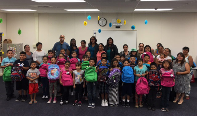 Mu Epsilon Omega Donates Backpacks to Diamond Elementary School